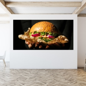Canvasdoek hamburger