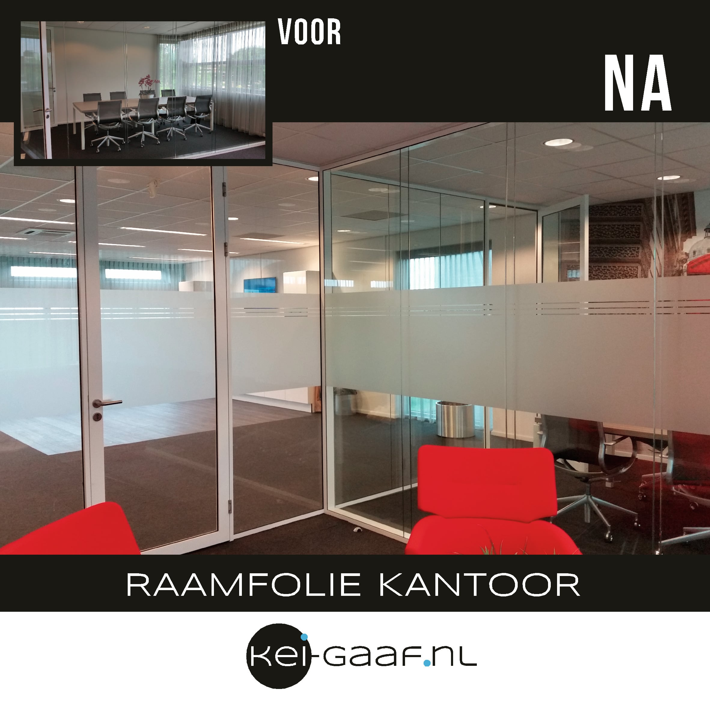 Raamfolie privacy kantoor